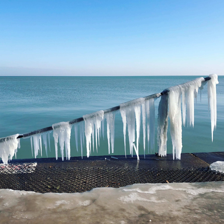 header image of an icy lake